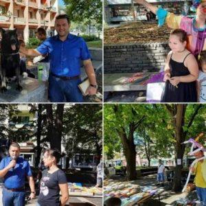 Закриха Базара на книгата в Перник с полиция и пожарна. Полицейското куче Рекс събра децата на площада